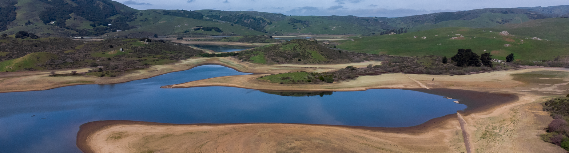 Nicasio Reservoir Low Water Level