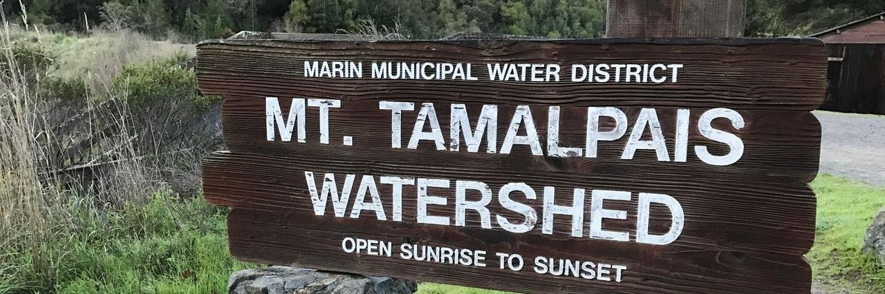Mt. Tamalpais Watershed wooden sign